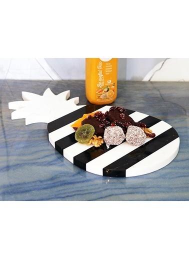 3Wdesign Ananas Mermer Sunum Tablası Siyah